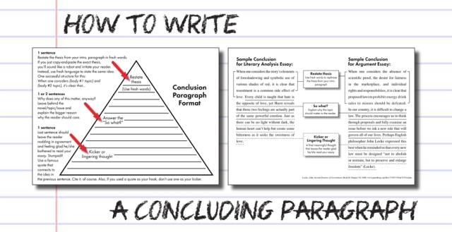 how to write a conclusion in an essay